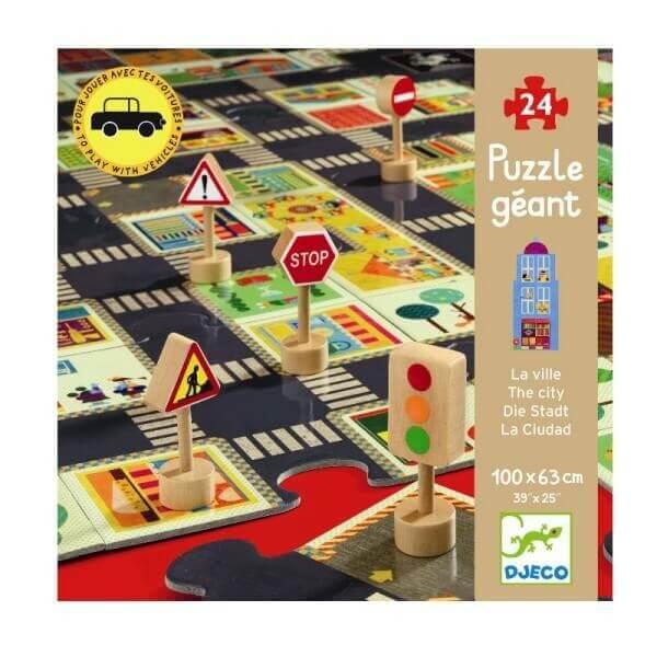 Riesenpuzzle Die Stadt Spielteppich, Djeco