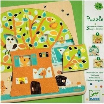 3 Schichten Puzzle Baumhaus Djeco