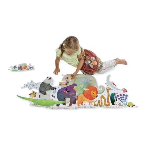 Puzzle Die Parade der Tiere, Djeco