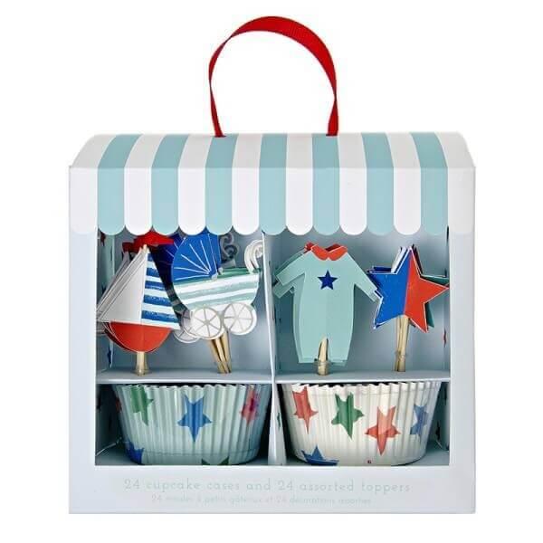 Baby Muffin Kit blau, Meri Meri