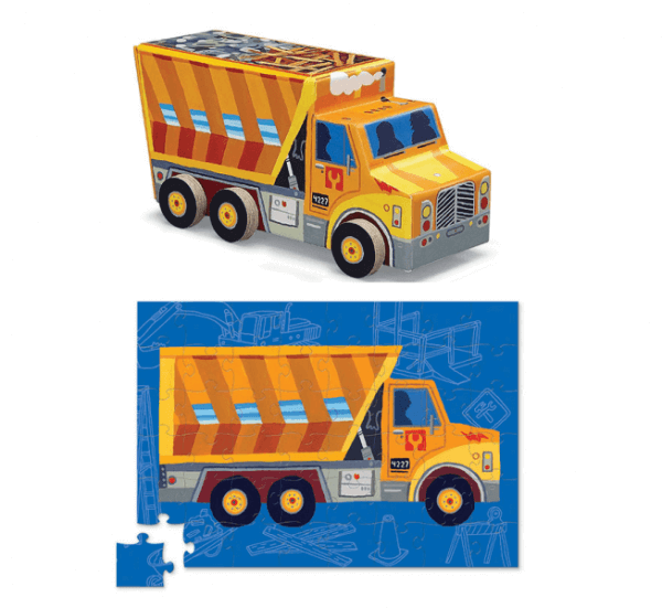 Puzzle auf Rädern Muldenkipper Lastwagen, Crocodile Creek