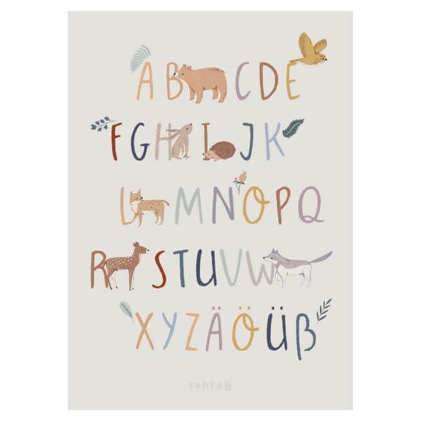 Sebra Alphabet Poster Waldtiere_SEB800330010
