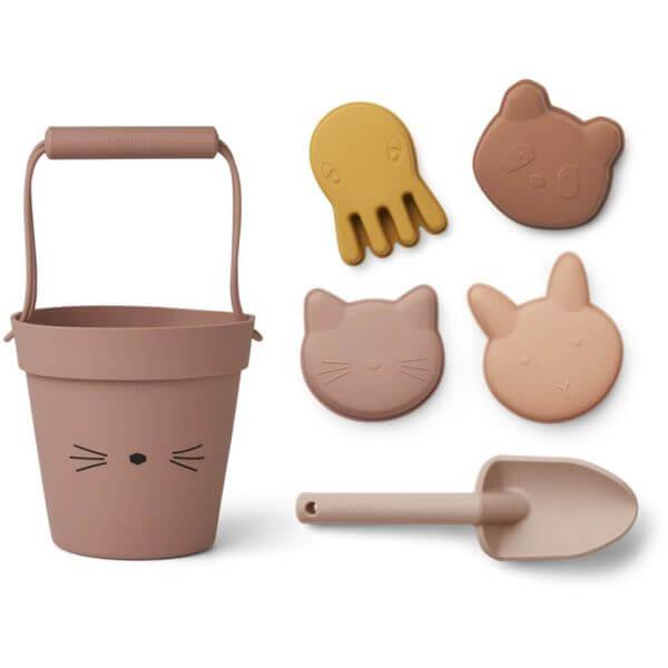 Liewood Strandspielzeug-Set Katze Rosa_LW14168-2264