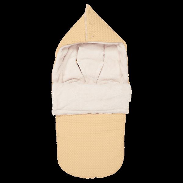 Koeka Buggy Fußsack Waffel/Plüsch Oslo (3-&5-Punktgurt) sahara/pebble_KOE-1015-25-005-925-230