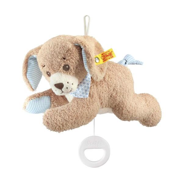 Steiff Gute Nacht Hund Spieluhr Blau