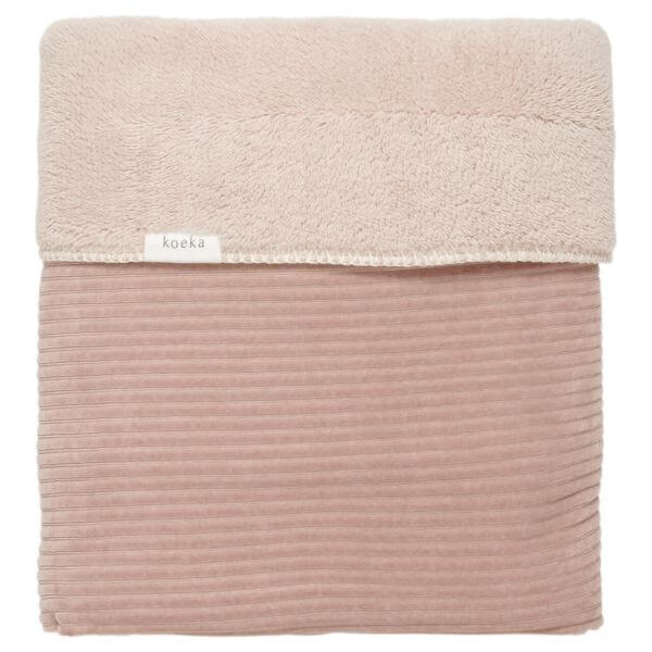 Koeka Wiegendecke Vik Plüsch grey pink 75 x 100 cm_KOE1050-0001-422