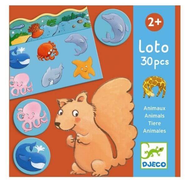 Djeco Spiel Lotto Tiere