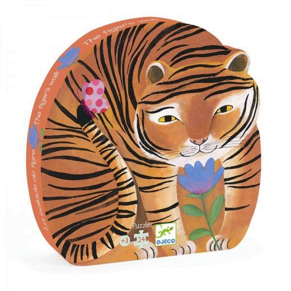 Puzzle Der Tiger geht spazieren, Djeco