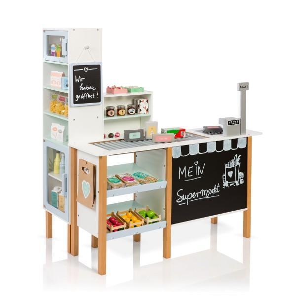 MUSTERKIND® Kaufladen Supermarkt Alnus Weiß/Graublau