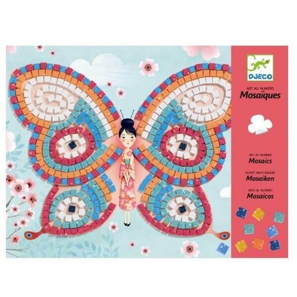 Djeco Bastelset Mosaik Bilder Schmetterlinge