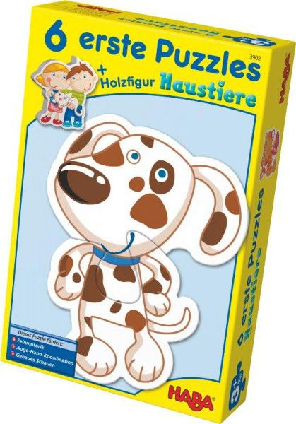 6 erste Puzzles Haustiere, Haba