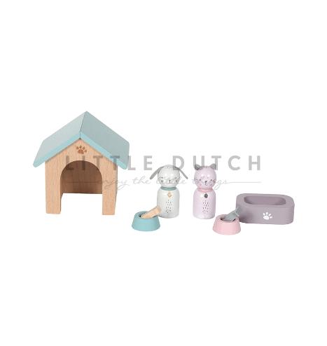 Little Dutch Puppenhaus Haustiere 8 TLG