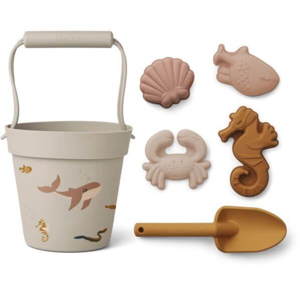 Liewood Strandspielzeug-Set Unterwasserwelt rosa_LW14168-0287