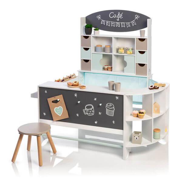 MUSTERKIND® Kaufladen & Café Arabica - Weiß/Mint/Warmgrau