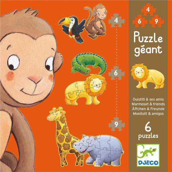 Djeco Puzzles Äffchen und Freunde