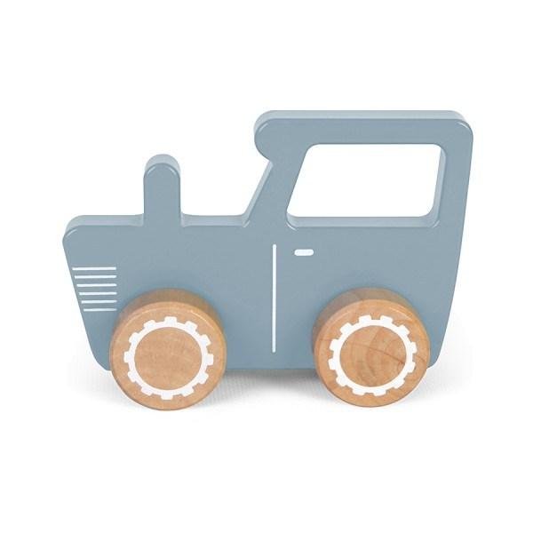 Little Dutch Traktor aus Holz Blau