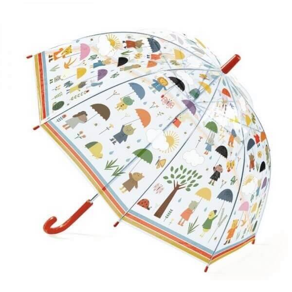 Djeco Kinderschirm Tiere im Regen