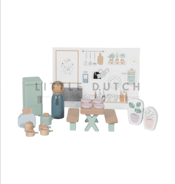 Little Dutch Puppenhaus Küche 19TLG