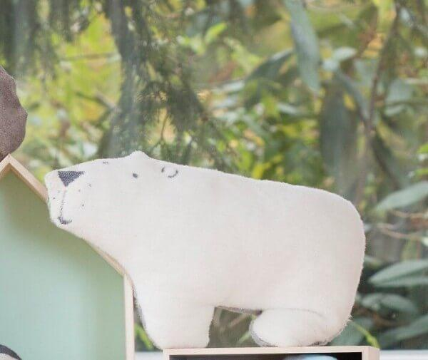 Kinderkissen Eisbär 25x44 cm, David Fussenegger