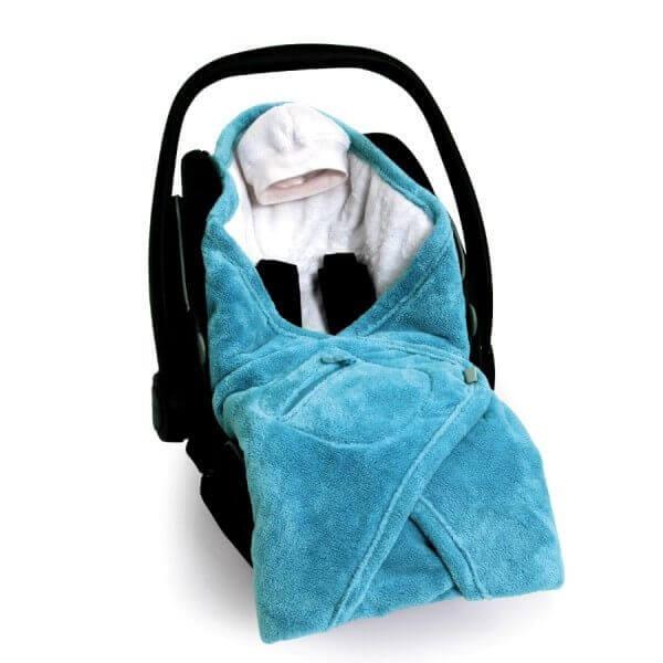 Decke für Babyschale Softy Blau, babyboum