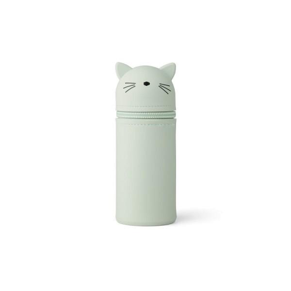 Liewood Etui aus Silikon Katze Mint