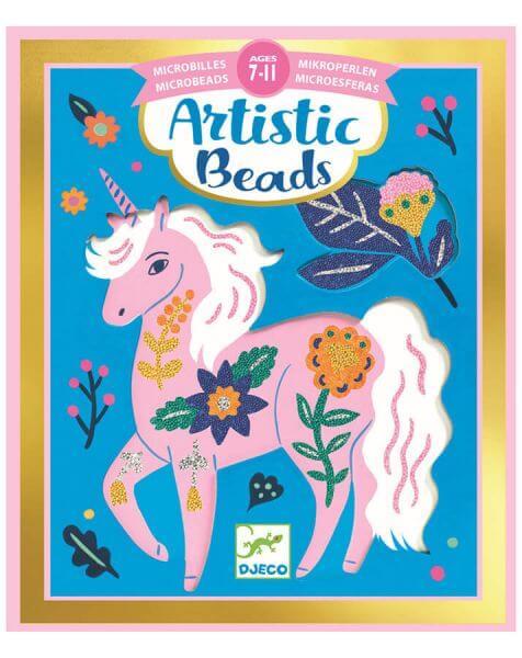 Djeco Bastelset Artistic Beads Blumenpracht
