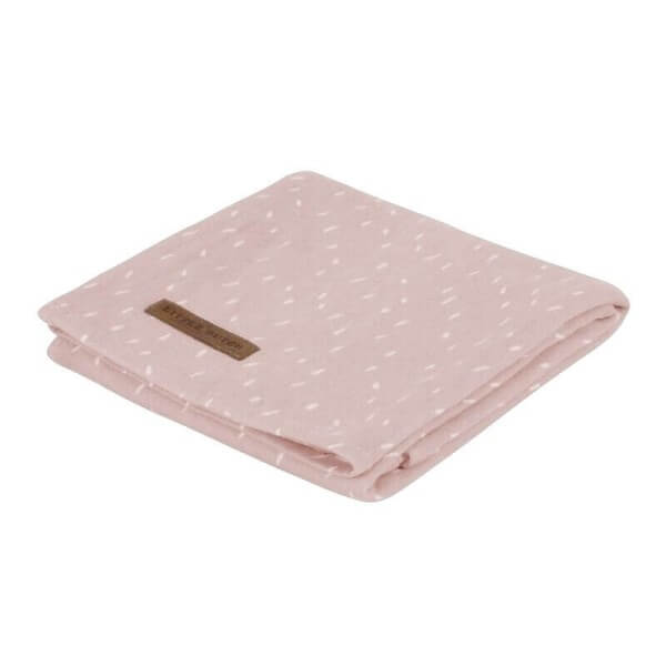 Little Dutch Jerseytuch Sprinkles Pink 120 cm x 120 cm