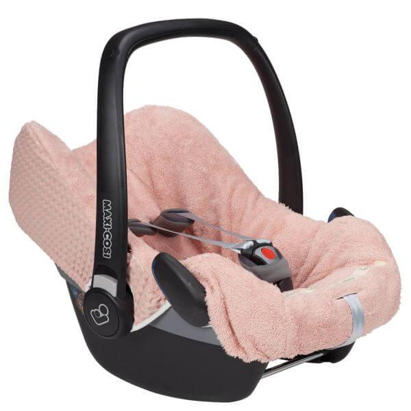 Koeka Bezug für Babyschalen Antwerp shadow pink 3-Punkt Gurt