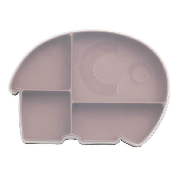 Sebra Silikon Menüteller mit Deckel Elefant lila_SEB700620006