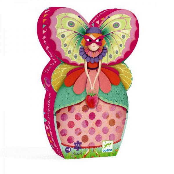 Puzzle Schmetterling Dame im Karneval, Djeco