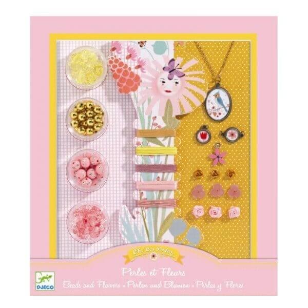 Djeco Kreativset Schmuck Perlen und Blumen