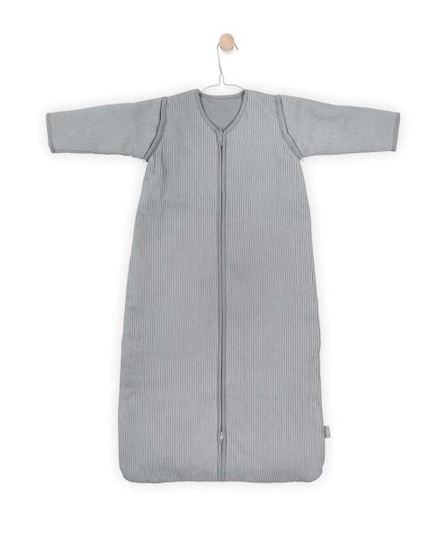 Schlafsack 4-Jahreszeiten Rib Grau 70cm abnehmbare Ärmel