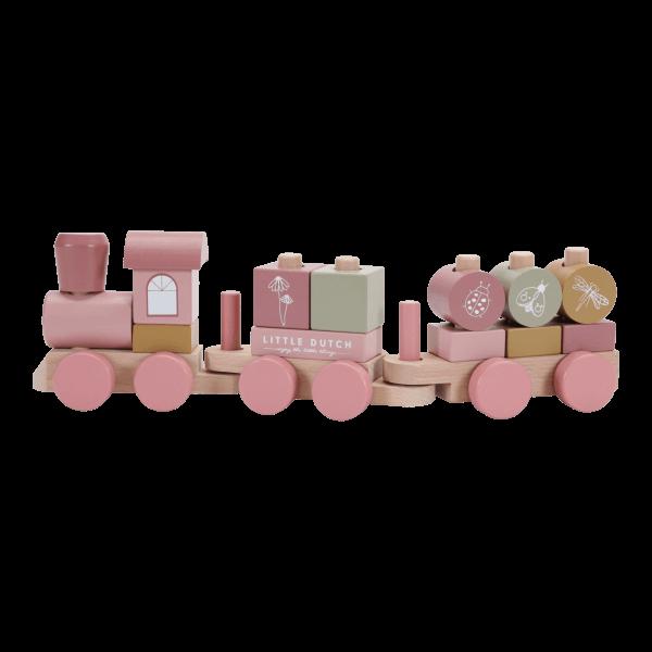 Little Dutch Eisenbahn mit Steck-Formen Pink_LD7035