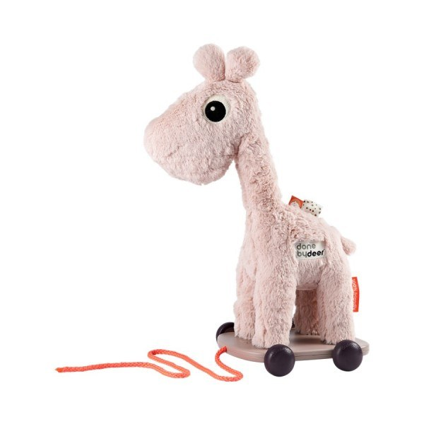 Done by Deer Giraffe auf Rädern Rosa
