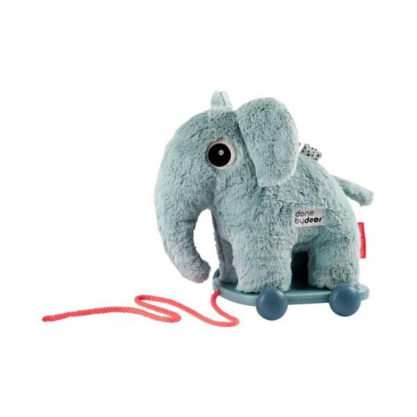 Done by Deer Elefant auf Rädern Blau