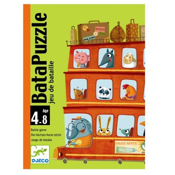 Djeco Kartenspiel Batapuzzle Fahrzeuge