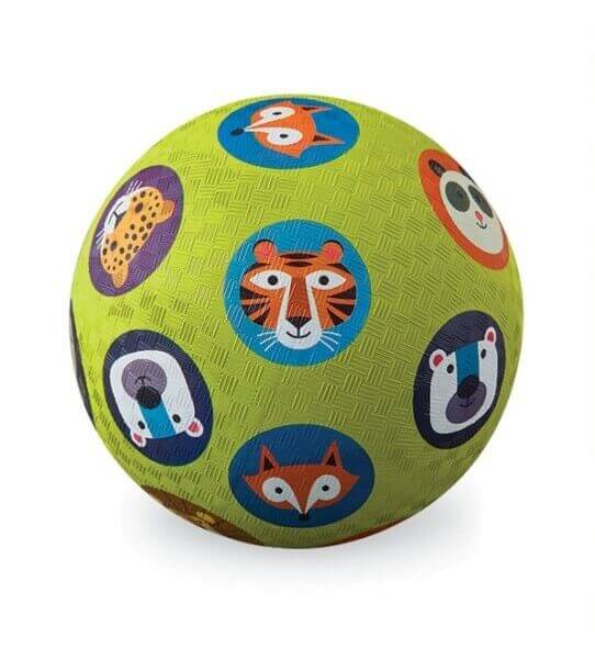 Spielball Tiere Köpfe 18 cm Naturkautschuk, Crocodile Creek