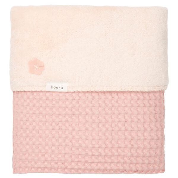 Koeka Babydecke Waffle/Plüsch Oslo Shadow Pink/Light Shadow Pink_KOE1015-44-020-415416