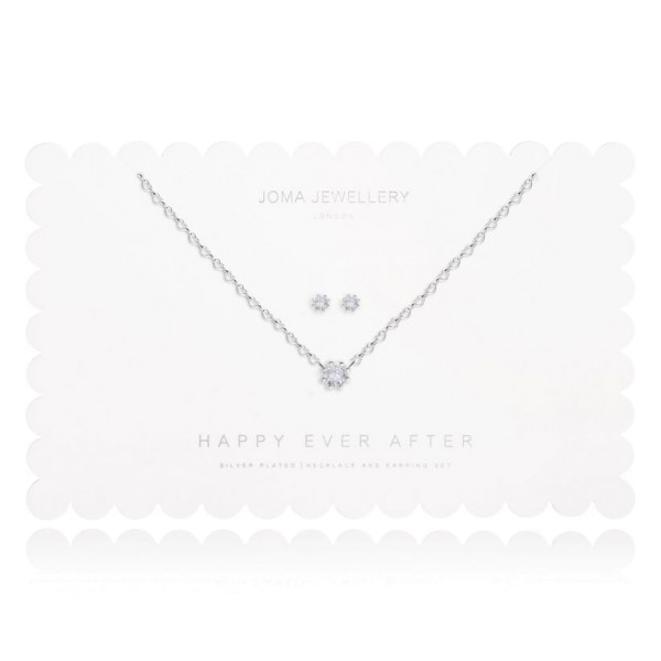 "Joma Jewellery Schmuckset ""Happy Ever After"" Crystal Prong"