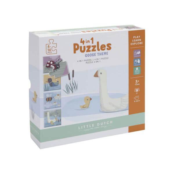 Little Dutch 4 in 1 Puzzle-Set Gans_LD4754