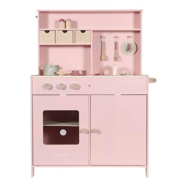 Little Dutch Kinderspielküche aus Holz Rosa mit Zubehör