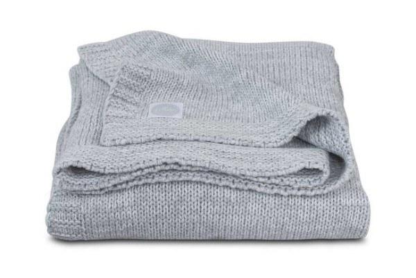 Jollein Decke Melange gestrickt 75x100cm Grau