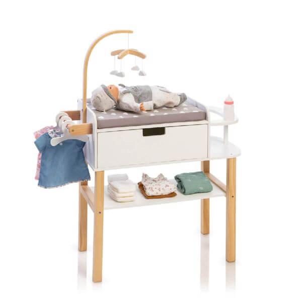 MUSTERKIND® Puppen-Wickelkommode Barlia natur/weiß_MK506