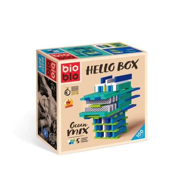 """bioblo HELLO BOX """"Ocean-Mix"""" mit 100 Bausteinen_16283"""