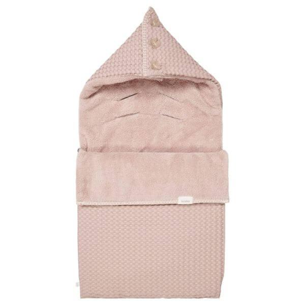 Koeka Buggyfußsack Waffel/Plüsch Oslo 3-5 Punkt Gurt Grey Pink/Grey Pink_KOE-1015-25-003-422-422