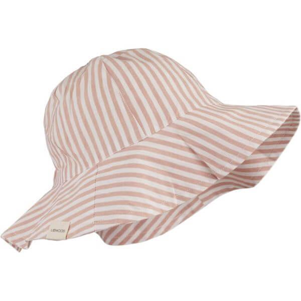 Liewood Sonnenhut Pink/Weiß gestreift_LW14147-2203