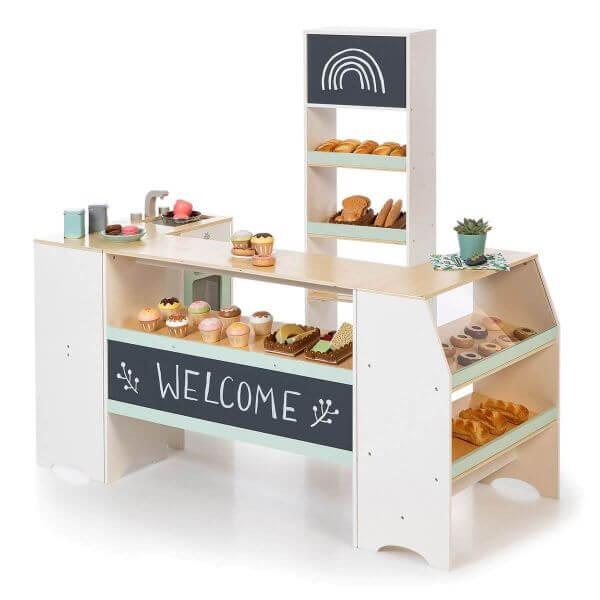 MUSTERKIND® Kaufladen Avena Weiß/Natur/mint_Mk214