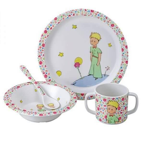 Petit Jour Paris Der kleine Prinz Kinderservice rosa Melamin