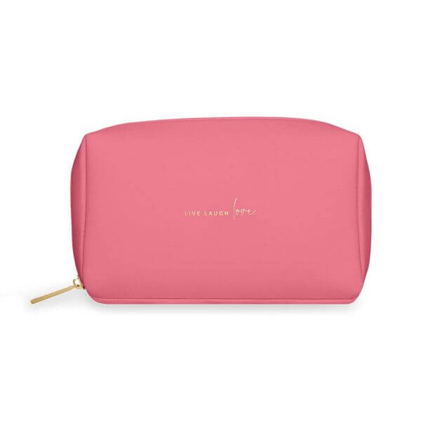 "Katie Loxton Make-Up Tasche ""Live Laugh Love"" Pink 12x21x7cm"