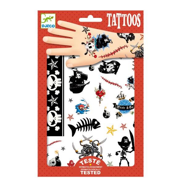djeco tattoos piraten g nstig auf rechnung bestellen. Black Bedroom Furniture Sets. Home Design Ideas